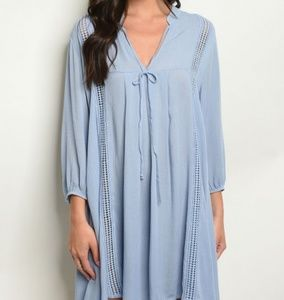 NWT Long Sleeve Challis Peasant Dress